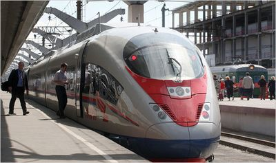 Russian highspeed train